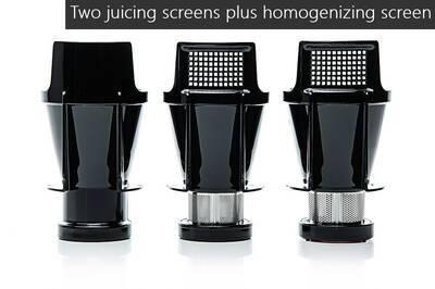 Sana EUJ-707 horizontal juicer screens