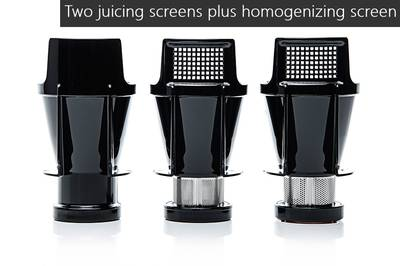 Sana EUJ-707 horizontal juicer screens